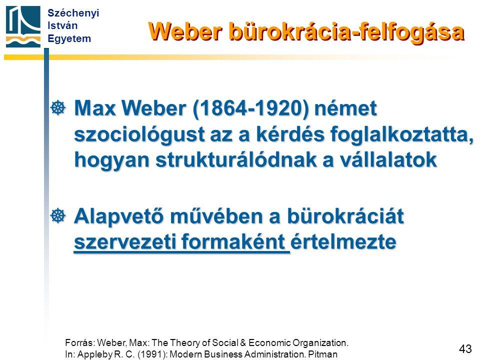 Max Weber perspektívái az ideális szervezetről