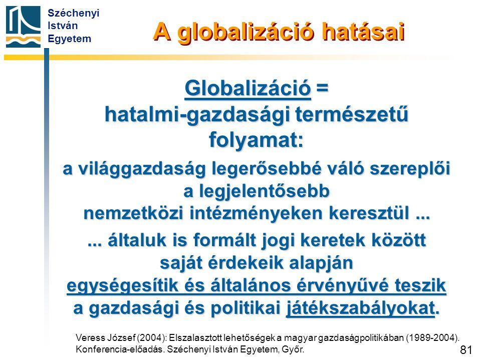 A globalizáció hatásai