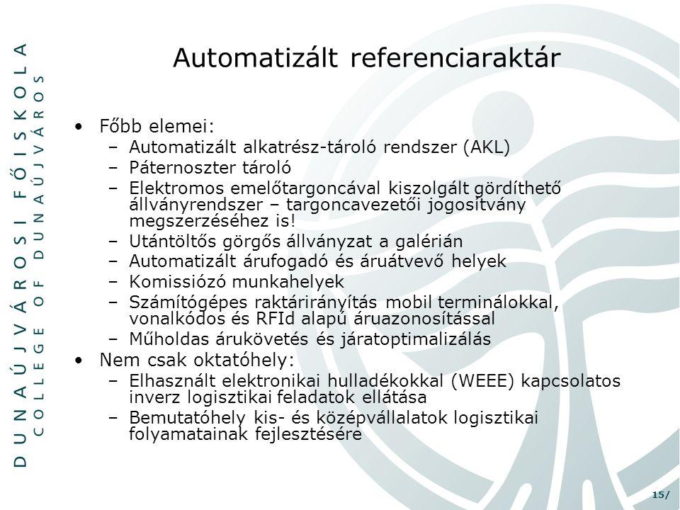 Automatizált referenciaraktár
