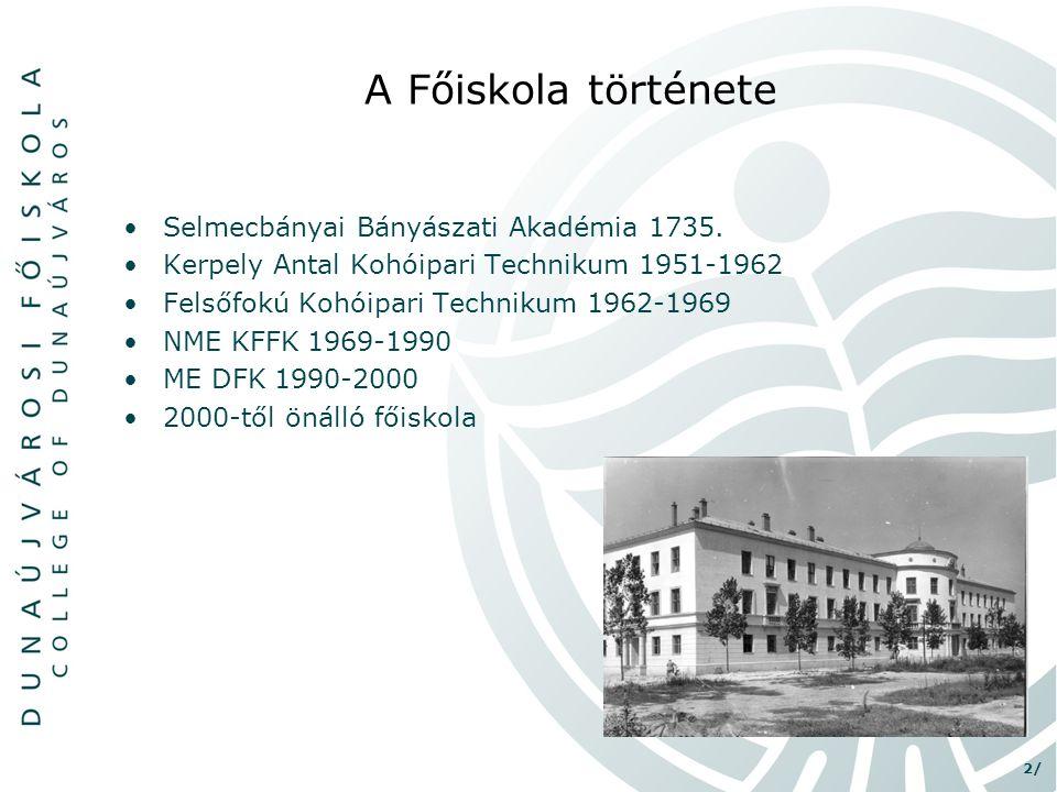 A Főiskola története Selmecbányai Bányászati Akadémia 1735.