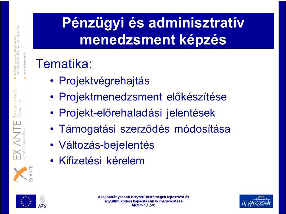 Pénzügyi és adminisztratív menedzsment képzés
