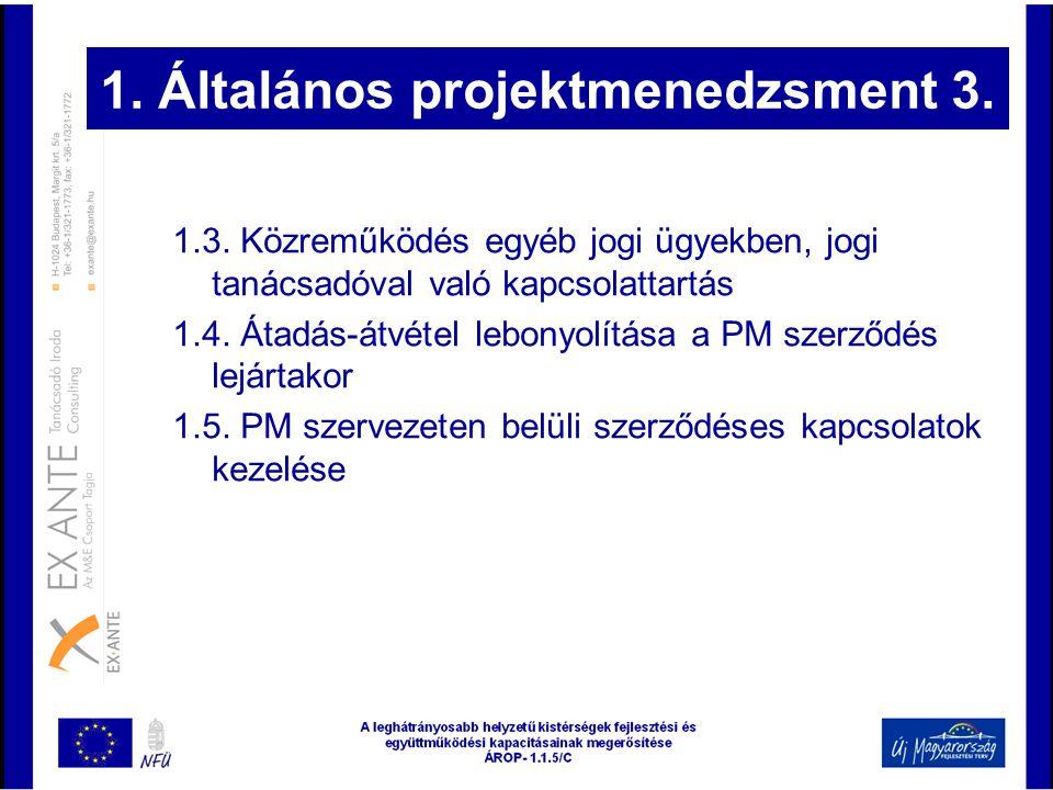 1. Általános projektmenedzsment 3.