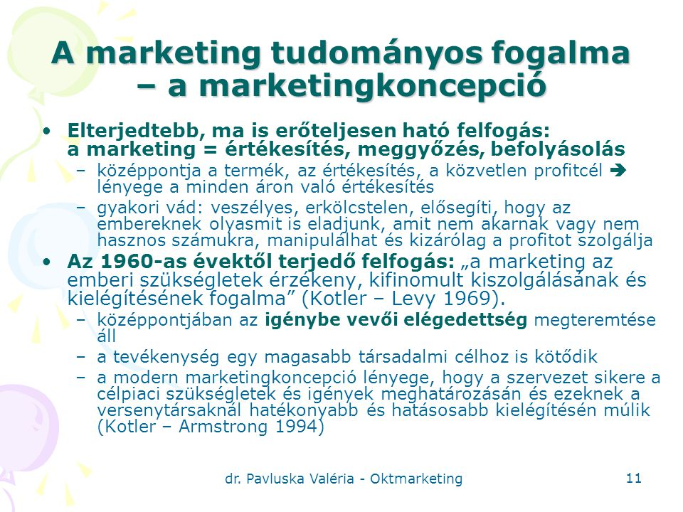 A marketing tudományos fogalma – a marketingkoncepció