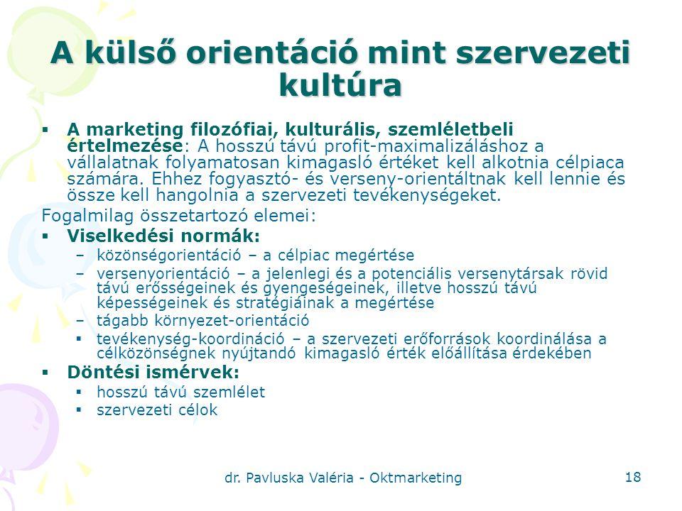 A külső orientáció mint szervezeti kultúra