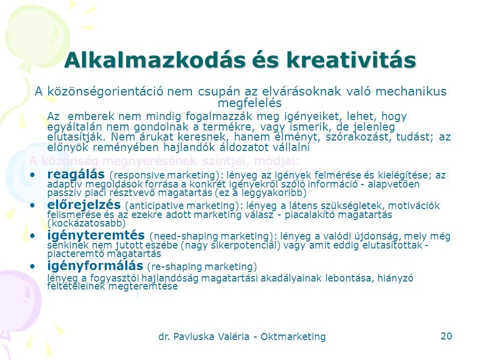 Alkalmazkodás és kreativitás