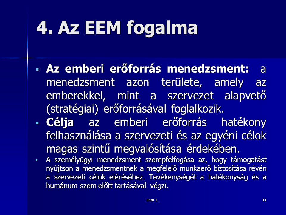 4. Az EEM fogalma