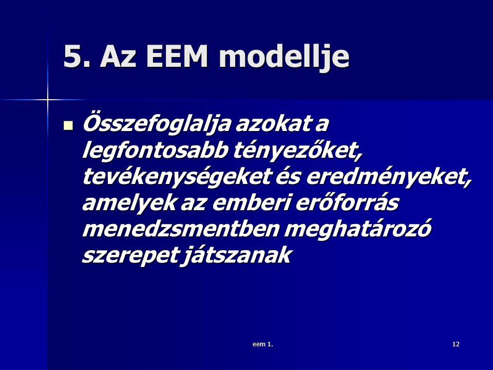 5. Az EEM modellje