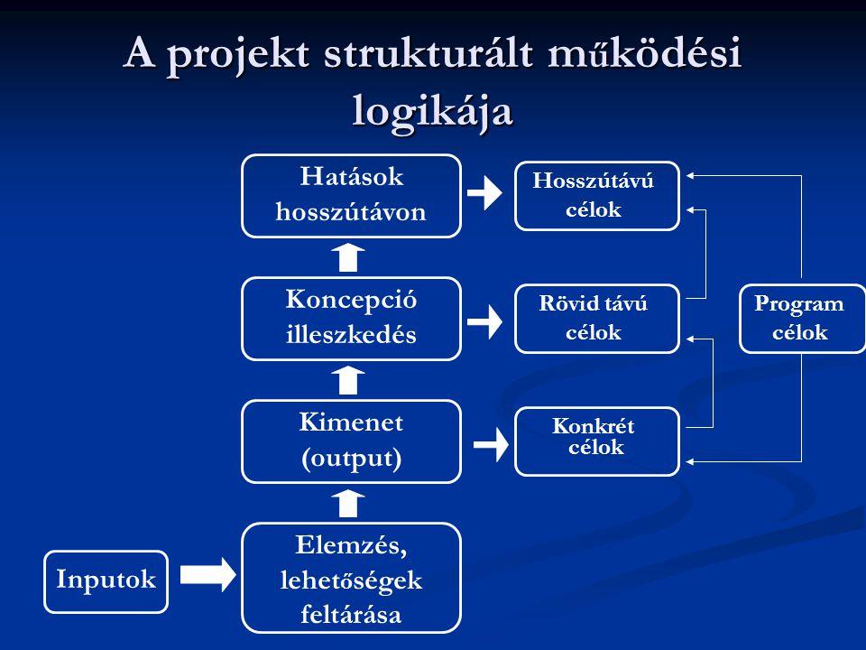 A projekt strukturált működési logikája