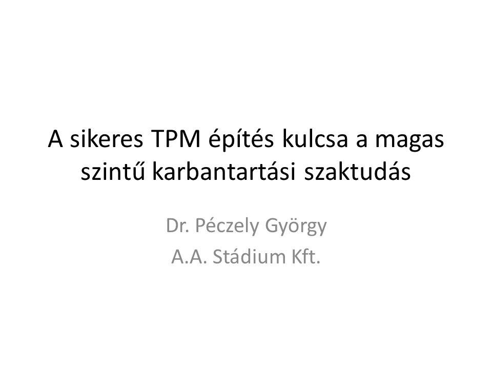 A sikeres TPM építés kulcsa a magas szintű karbantartási szaktudás