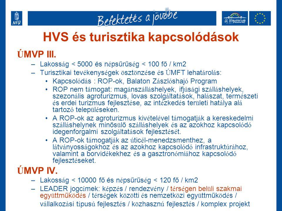 HVS és turisztika kapcsolódások