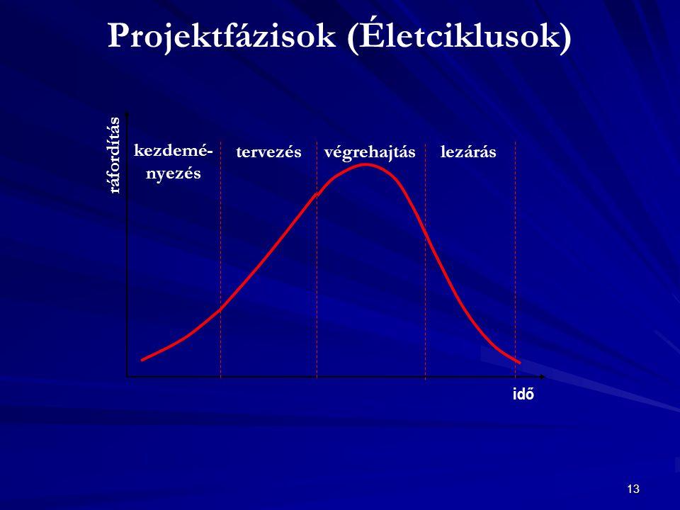 Projektfázisok (Életciklusok)