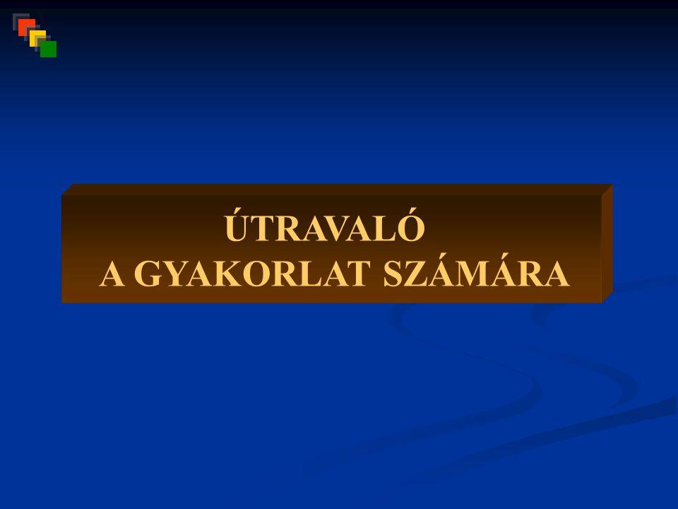 ÚTRAVALÓ A GYAKORLAT SZÁMÁRA