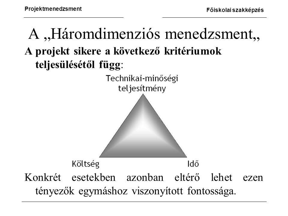 """A """"Háromdimenziós menedzsment"""""""