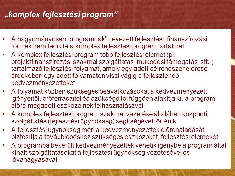 """""""komplex fejlesztési program"""