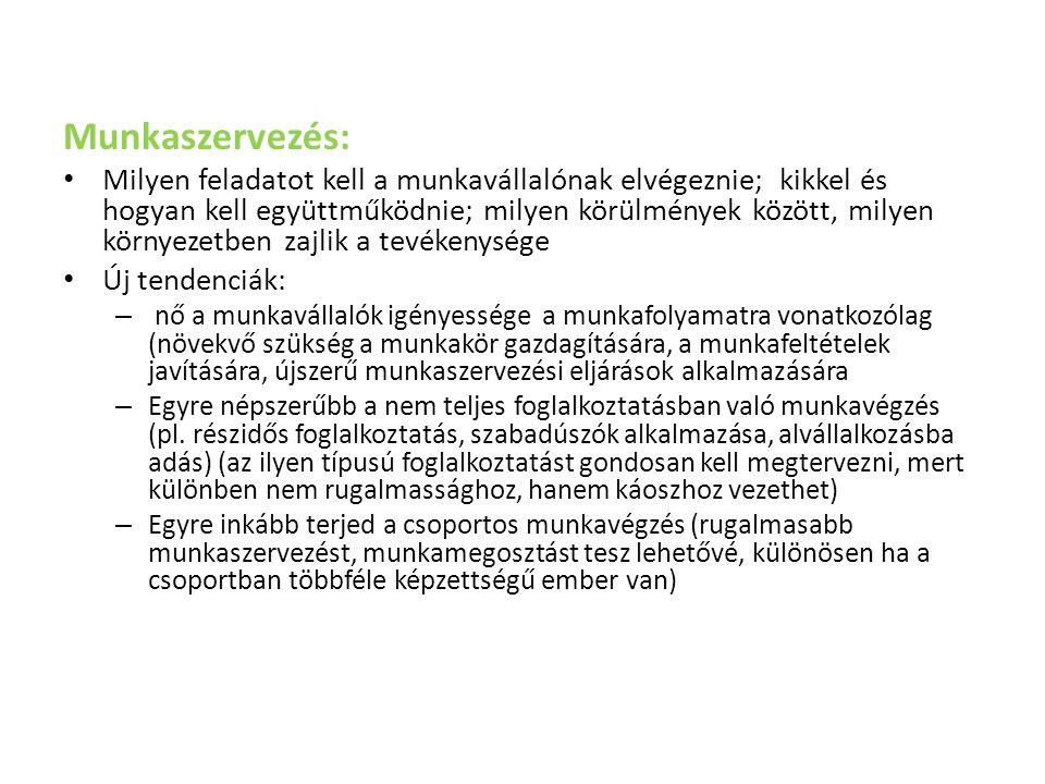 Munkaszervezés: