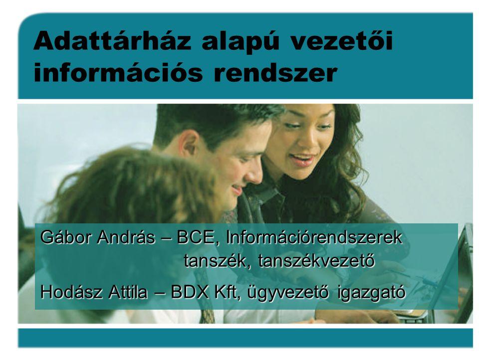 Adattárház alapú vezetői információs rendszer