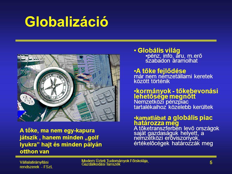 Globalizáció Globális világ A tőke fejlődése