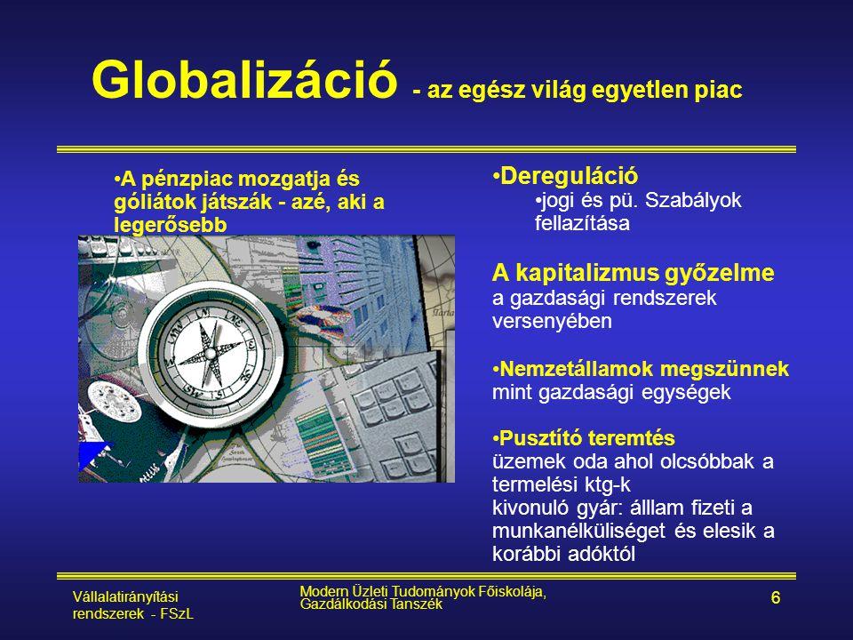 Globalizáció - az egész világ egyetlen piac