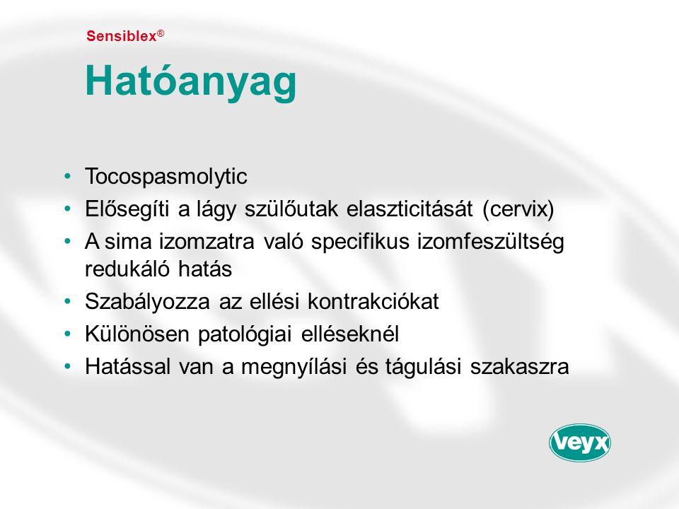 Hatóanyag Tocospasmolytic