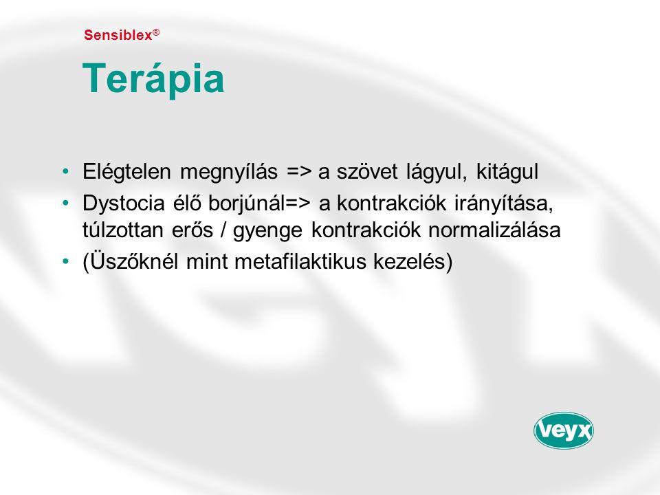 Terápia Elégtelen megnyílás => a szövet lágyul, kitágul