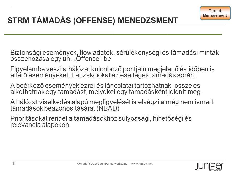 STRM Támadás (Offense) menedzsment