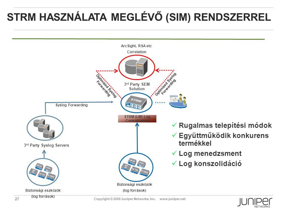 STRM használata meglévő (SIM) rendszerrel