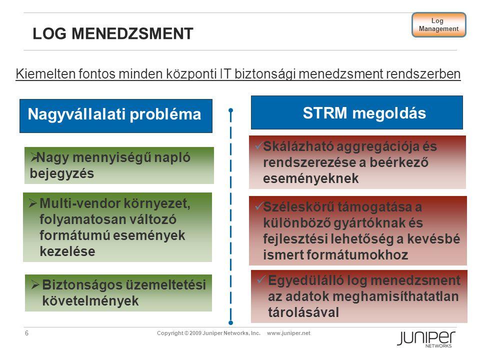 Nagyvállalati probléma STRM megoldás