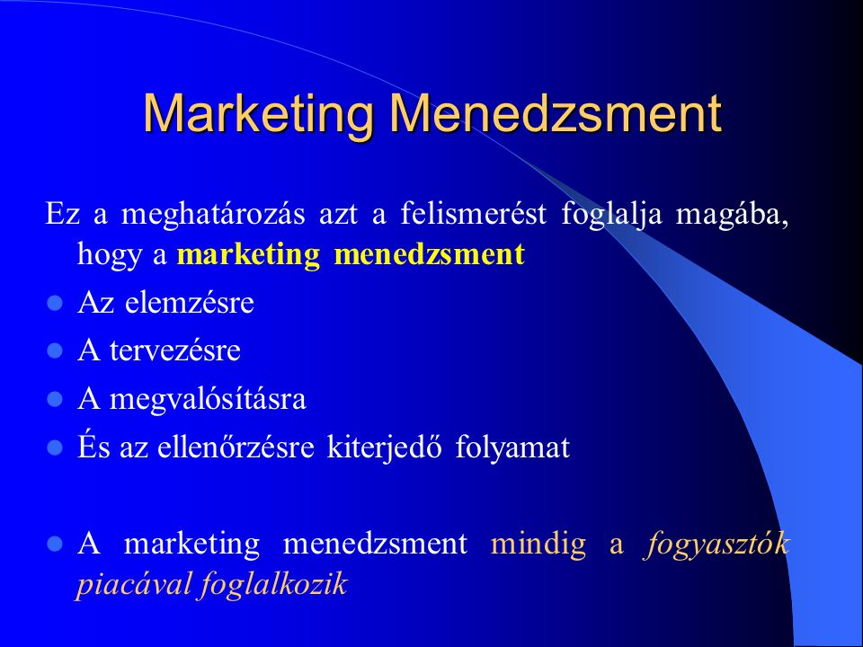 Marketing Menedzsment