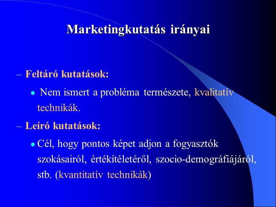 Marketingkutatás irányai