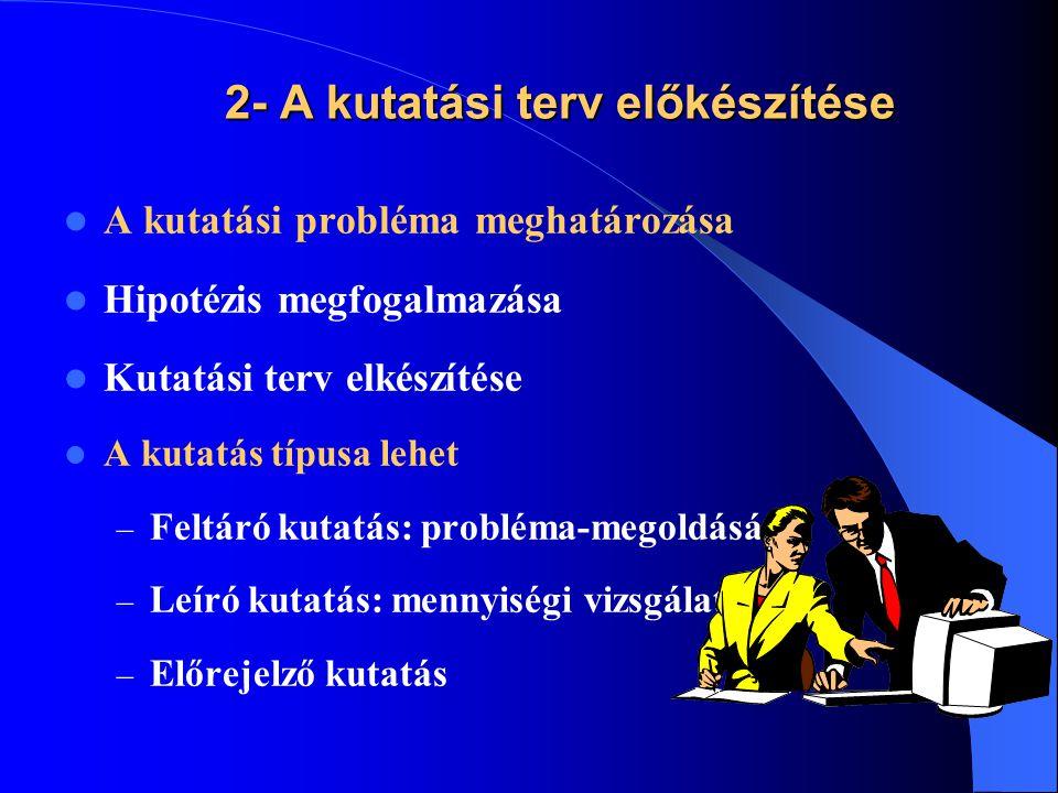 2- A kutatási terv előkészítése