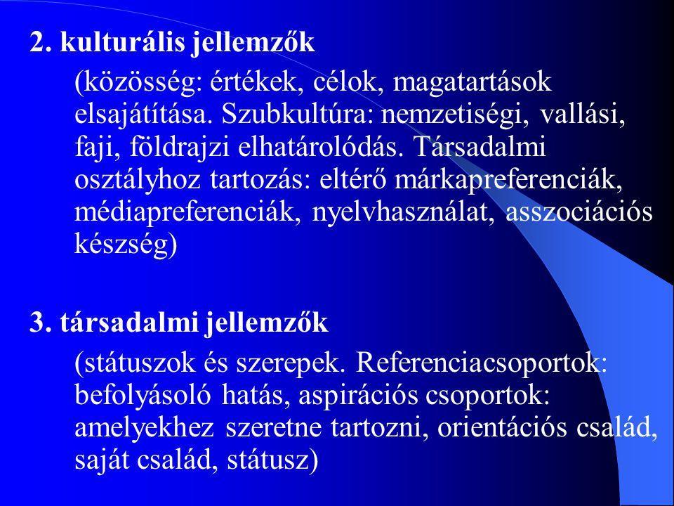 2. kulturális jellemzők