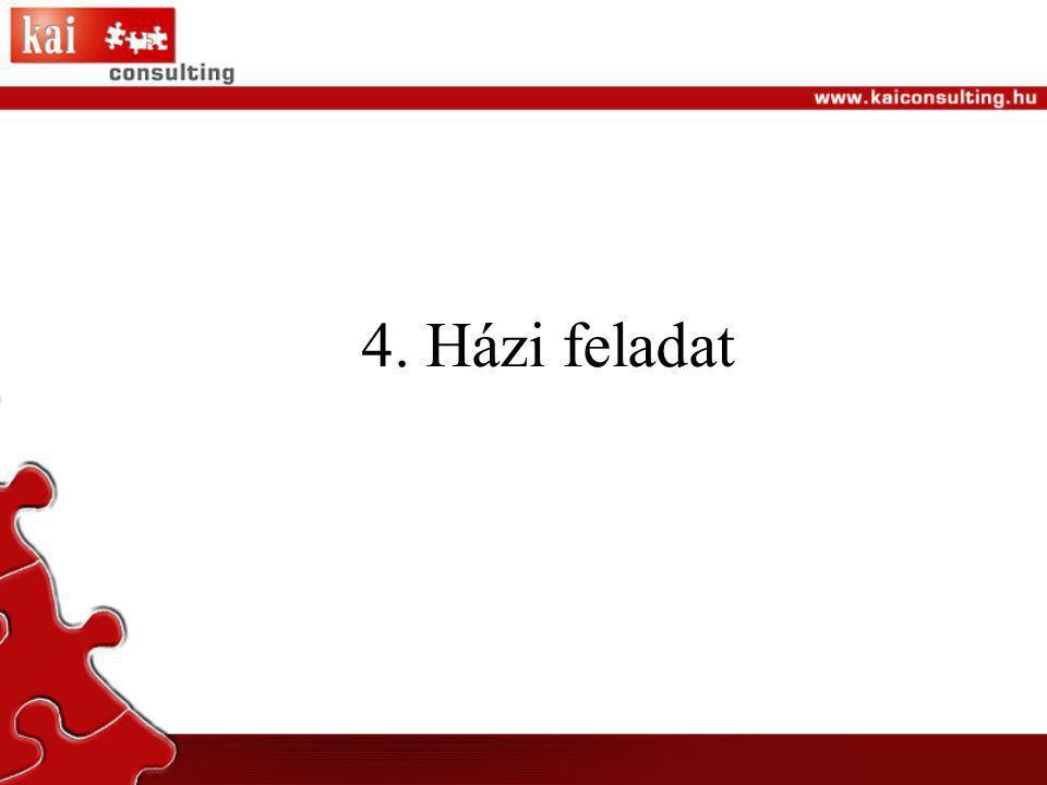 4. Házi feladat