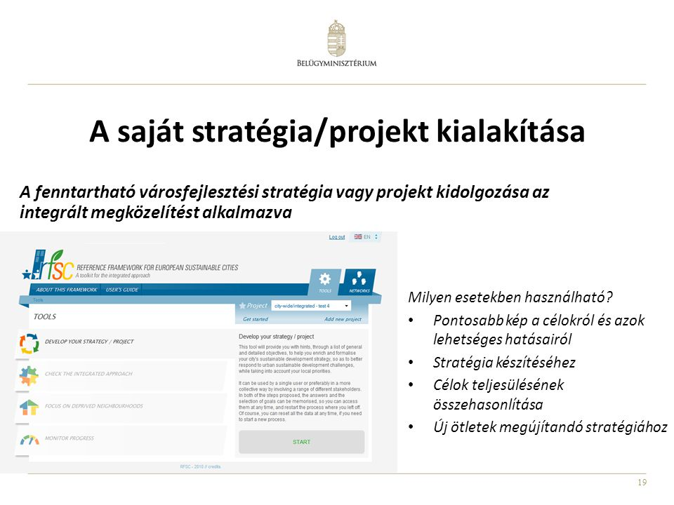 A saját stratégia/projekt kialakítása