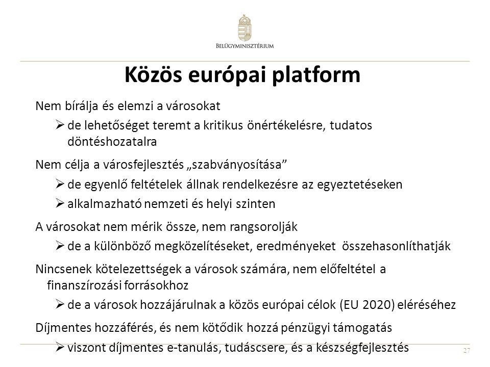Közös európai platform