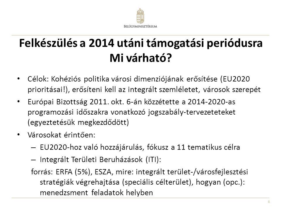 Felkészülés a 2014 utáni támogatási periódusra Mi várható