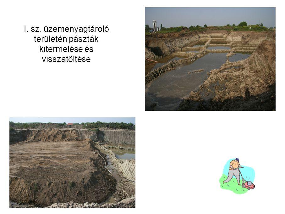 I. sz. üzemenyagtároló területén pászták kitermelése és visszatöltése