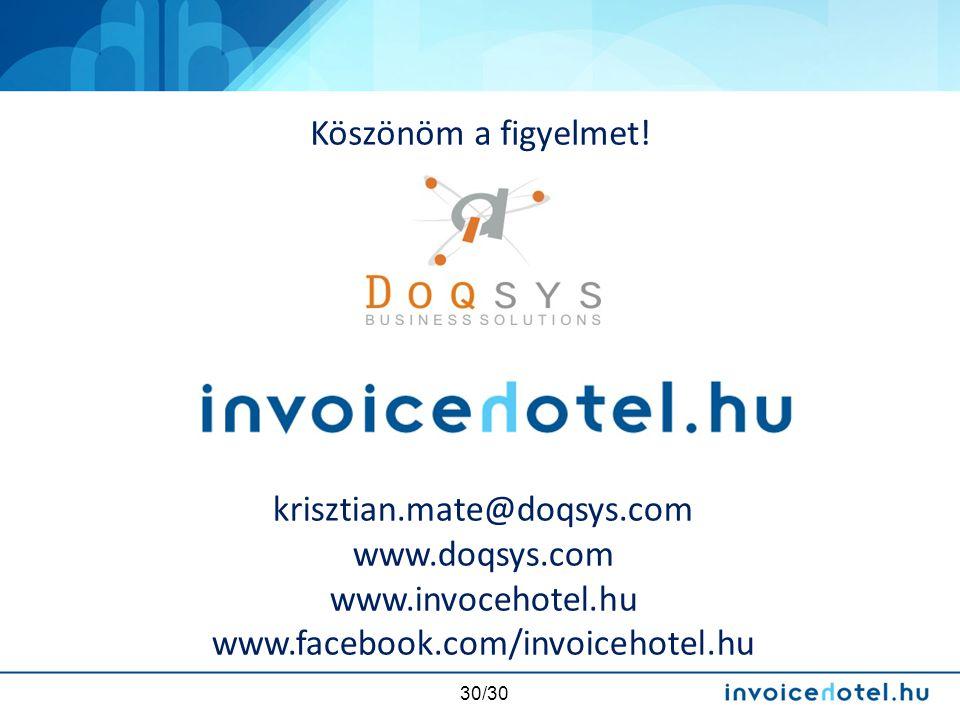 Köszönöm a figyelmet. krisztian.mate@doqsys.com. www.doqsys.com.