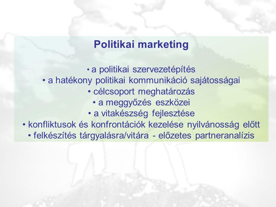 Politikai marketing a hatékony politikai kommunikáció sajátosságai