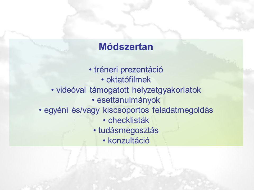 Módszertan tréneri prezentáció oktatófilmek