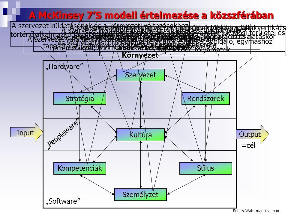 A McKinsey 7'S modell értelmezése a közszférában