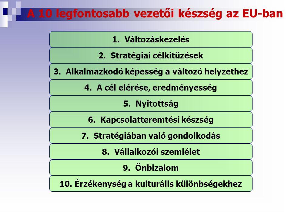 A 10 legfontosabb vezetői készség az EU-ban