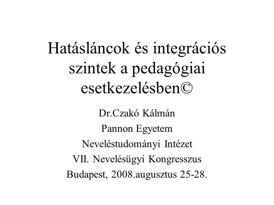 Hatásláncok és integrációs szintek a pedagógiai esetkezelésben©