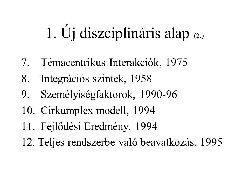 1. Új diszciplináris alap (2.)