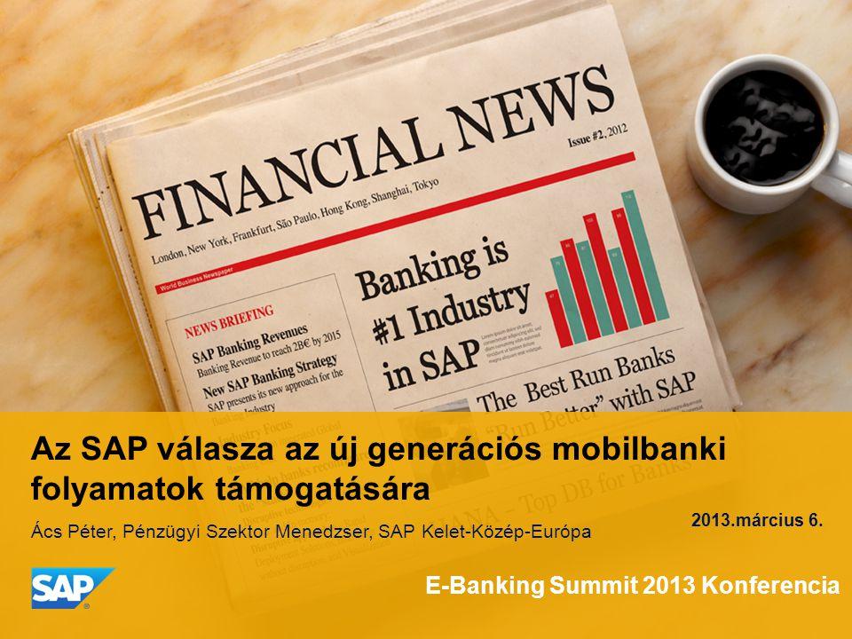 Az SAP válasza az új generációs mobilbanki folyamatok támogatására