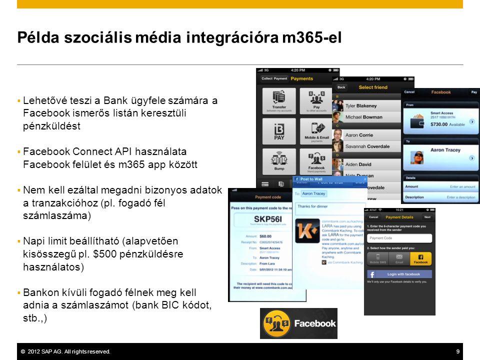 Példa szociális média integrációra m365-el