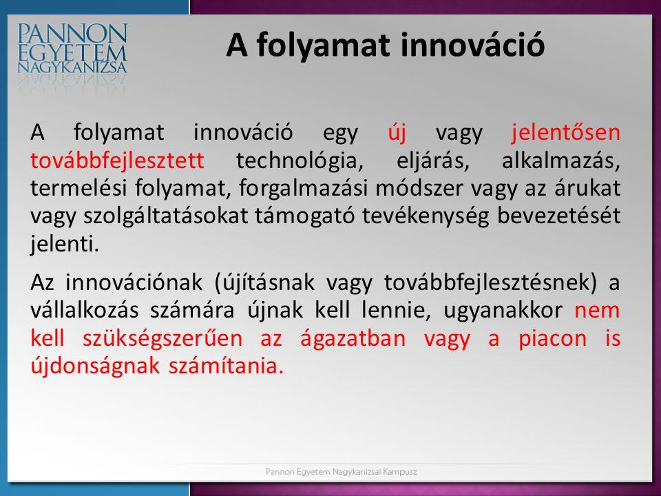 A folyamat innováció