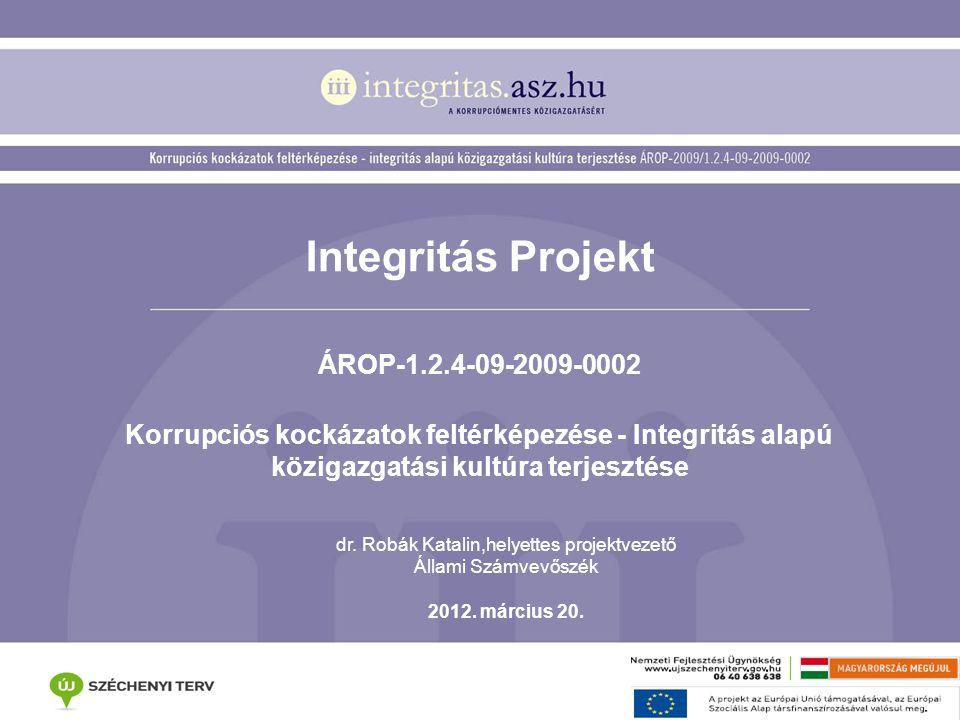 dr. Robák Katalin,helyettes projektvezető