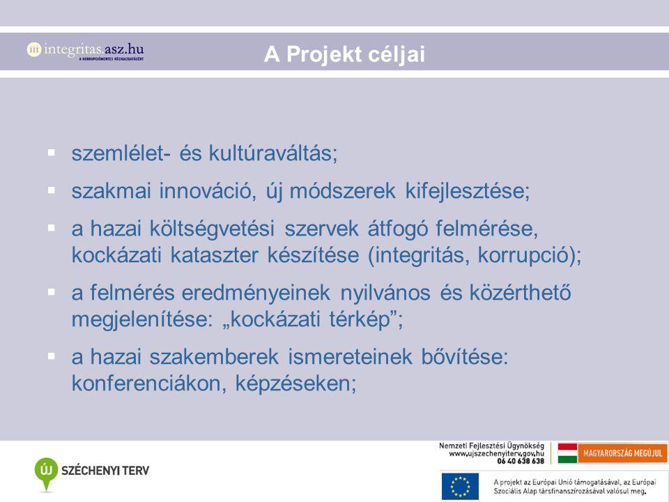 A Projekt céljai szemlélet- és kultúraváltás; szakmai innováció, új módszerek kifejlesztése;