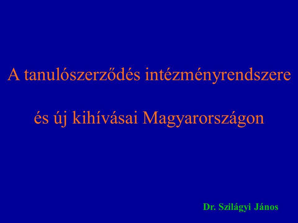A tanulószerződés intézményrendszere és új kihívásai Magyarországon