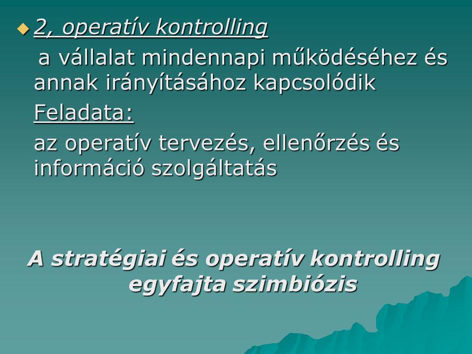 A stratégiai és operatív kontrolling egyfajta szimbiózis